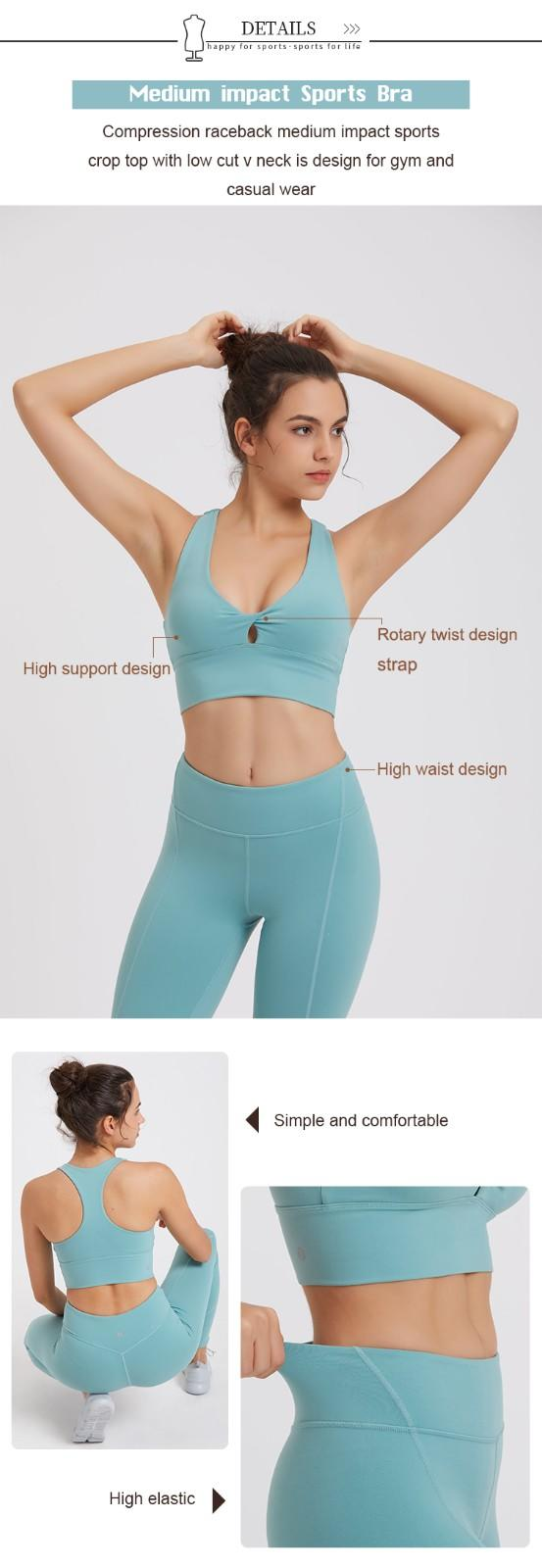 high quality women yoga set factory price for ladies-3