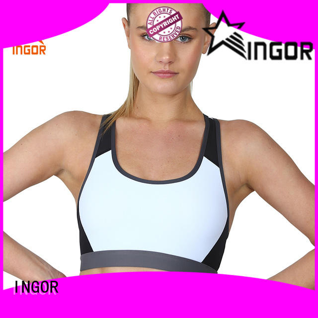 INGOR blue yoga bra with high quality for sport