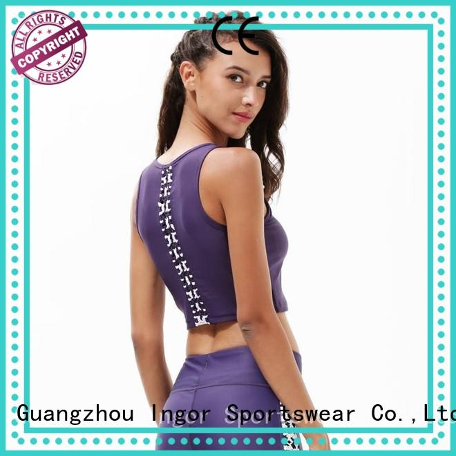 Wholesale grey sports bra INGOR Brand