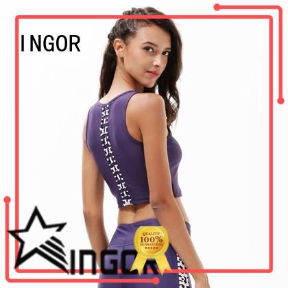 INGOR longline plus size strappy sports bra with high quality for ladies