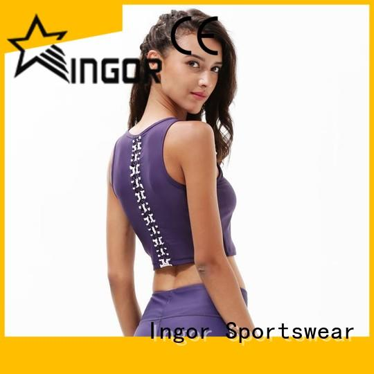 INGOR workout compression sports bra on sale at the gym