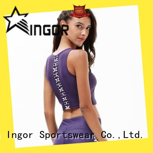 INGOR women compression sports bra to enhance the capacity of sports at the gym