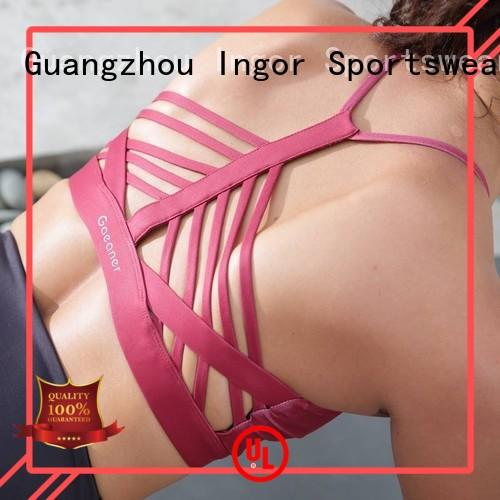 Quality INGOR Brand support yoga sports bra