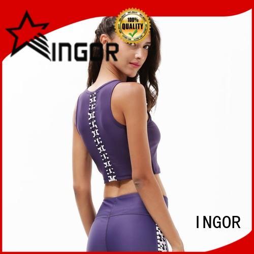 INGOR women neon pink sports bra to enhance the capacity of sports for girls