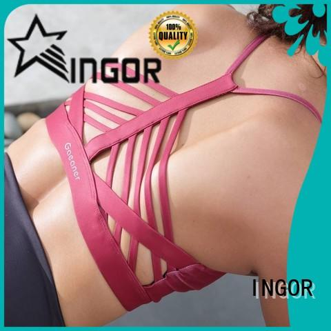 INGOR womens compression sports bra to enhance the capacity of sports for sport