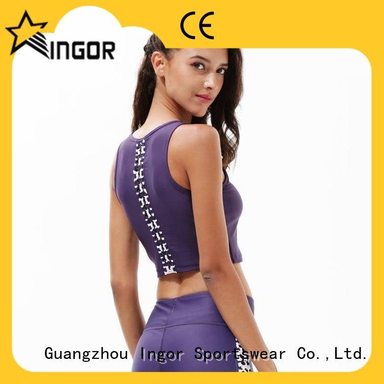 INGOR black yoga bra on sale for sport