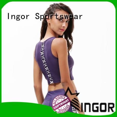 INGOR custom grey strapless bra neck at the gym