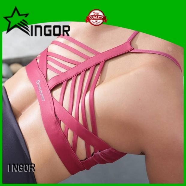 INGOR soft compression sports bra to enhance the capacity of sports for girls