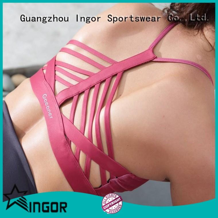 breathable strappy front sports bra womens with high quality for girls
